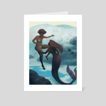 I fell in love with a mermaid - Art Card by Kirsten Halvorsen