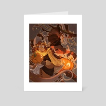Pumpkin pals - Art Card by Snejkha