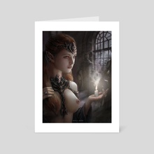 Girl with the candle - Art Card by Kirill Repin