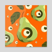 Fruit Balls - Acrylic by Geoff Tice