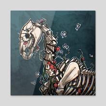 Skeletal Horse - Acrylic by Grace Bales