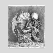 Cthulhu - Acrylic by Gregory Alferowicz