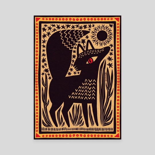 Black Sun & Fox by Bern Lehtinen