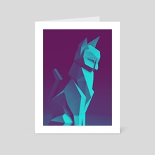 Low Poly Cat Blue - Art Card by Jonathan Lam