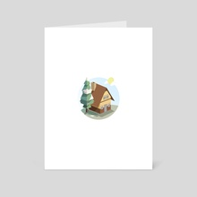 Lone cabin - Art Card by Vectoria :  visually vectorized