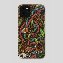 Jaguar vs Snake - Phone Case by Lorenzo Branca