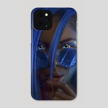 Blue star  - Phone Case by Andy Art