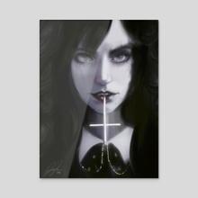 Priest's Daughter - Acrylic by Jesse Johnson