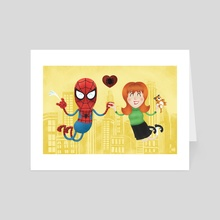 Soulmates: Spidey and MJ - Art Card by Colby Bryant