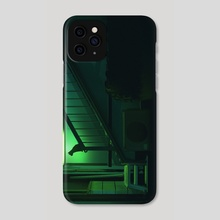 Nighttime Cat - Phone Case by jorge Gonzalez