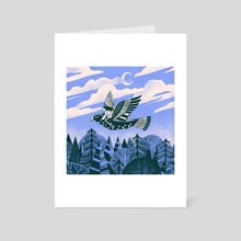 Bird Girl - Art Card by Travis Stewart