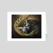 Saint George and the dragon - Art Card by Certon Kisters