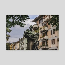 Statue, Verona, Italy. - Canvas by Charlie Collins