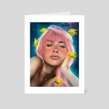 Girl mermaid  - Art Card by Remi Beer