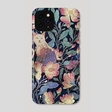 Cat and magnolia - Phone Case by Roberto Nieto