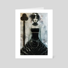 Queen of Clubs - Art Card by SGW