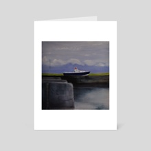 Boat Out of Water - Art Card by Patti Tronolone