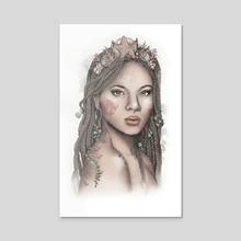Wandering Mermaid - Acrylic by Frances Louw