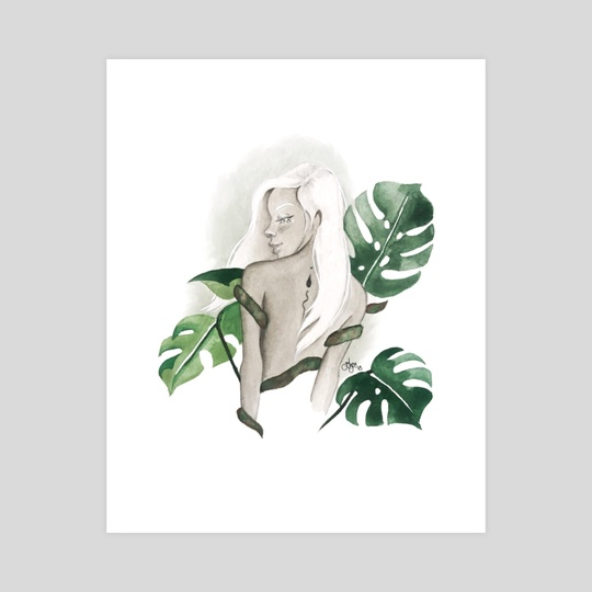 monstera goddess by elyse lauthier