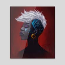 Redness - Acrylic by Marina Gonçalves