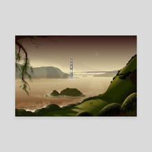 Golden Gate - Canvas by Tom Carlos