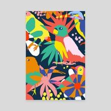 Flamboyant, Unashamed & Free - Canvas by 83 Oranges