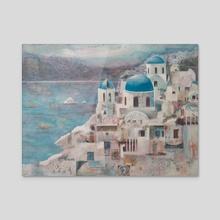 Aegean Wonder - Acrylic by Nancy T Anderson