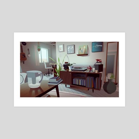 Cozy Living Room by Sasha Schotzko-Harris