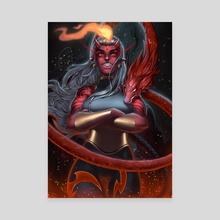 Red Oni  - Canvas by Raijin Art