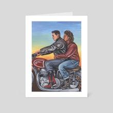 Dykes on Bikes - Art Card by Andrea Lhotska