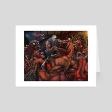 A Love Letter to Splatterhouse - Art Card by Sal Cloak