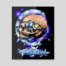 Servo Skull Profile  - Acrylic by Robert Whitelock