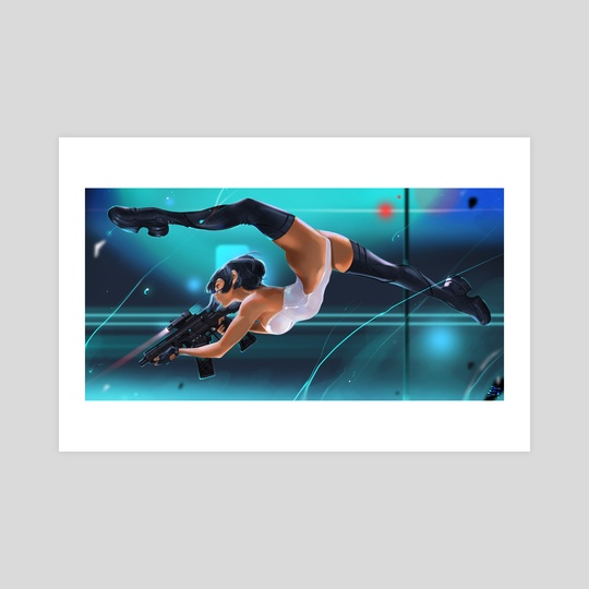 Motoko (a jump). by Tatti Art