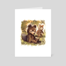 Bear Cubs - Art Card by Victoria Maderna