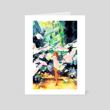 My Wish Is To Stay Always Like This, Living Quietly In a Corner Of Nature - Art Card by 83 Oranges