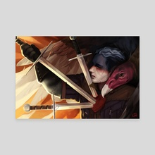 Jedric - Three of Swords - Canvas by Mel de Carvalho
