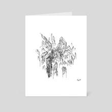 Geometric Landscape (4) - Art Card by Randy O'Connor