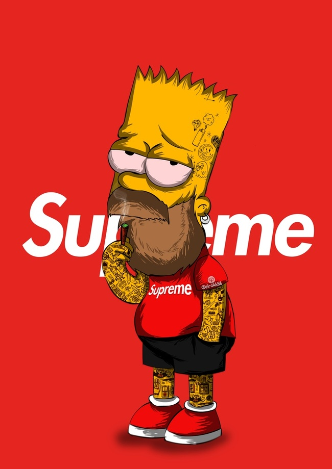 Supreme Bart Simpson by Ephrem Rokk