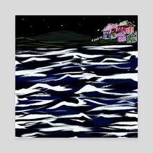 Ocean - Canvas by Phyllis Sosa Lourenço