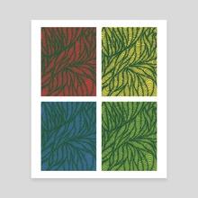 Psychological Primaries Window - Canvas by Elsie Greer