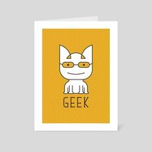 Cat Geek Mode - Art Card by Dahlia