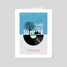 Alternative 500 days of summer movie print - Art Card by Fer Ojea
