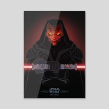 Star Wars Villains - Darth Maul - Acrylic by Jonathan Lam