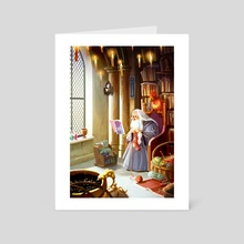 Dumbledore's Down Time - Art Card by Yaoyao Ma Van As