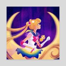 Super Sailor Moon - Canvas by Sarah Marino