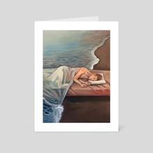 sleeping man - Art Card by Antonia Sanker