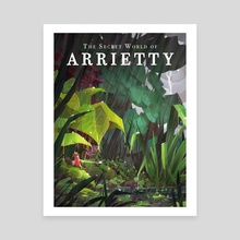 Ghibli - Arrietty - Canvas by spiridt