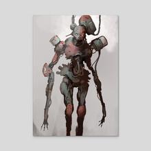 Junkyard Robot - Acrylic by Guillaume Menuel