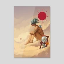 The Fool - Acrylic by Octavio  Cordova
