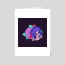 Purple Blossom - Art Card by Angie Londono